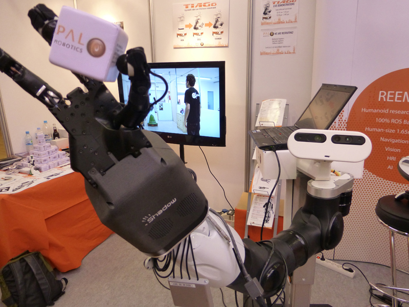 TIAGo robot with Shadow Hand end-effector