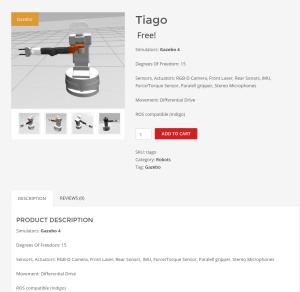 TIAGo robot simulation