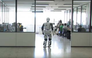 Biped humanoid REEM-C walking