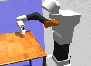 TIAGo robot in simulation