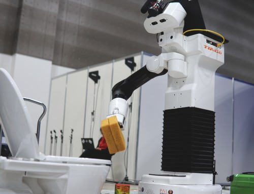 World Robot Summit with TIAGo robot: from cleaning toilets to interacting with customers