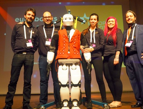 ERF2019: Humanoids state-of-the-art, Autonomous Mobile Robots, and TIAGo robot teleoperated