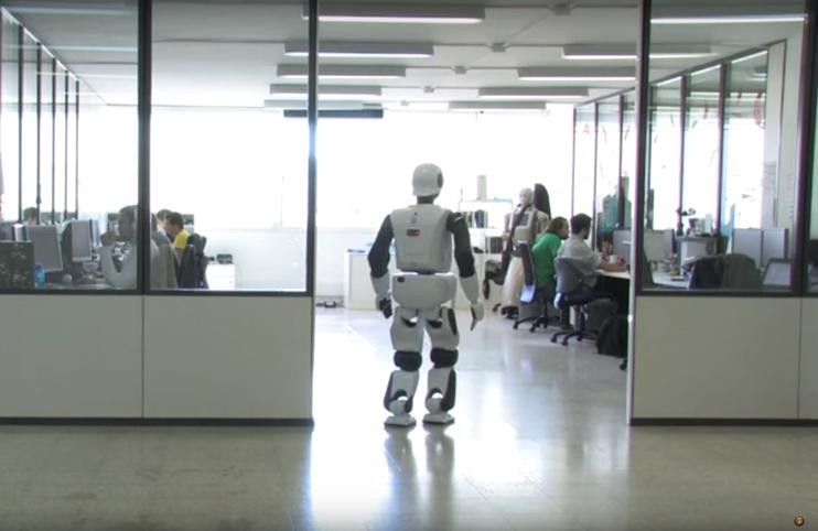 Biped humanoid REEM-C walking