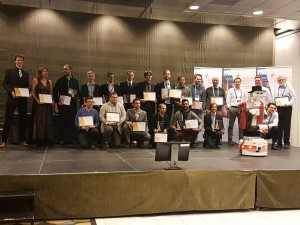 Award winners ceremony during ERF Gala Dinner, co-hosted by TIAGo robot