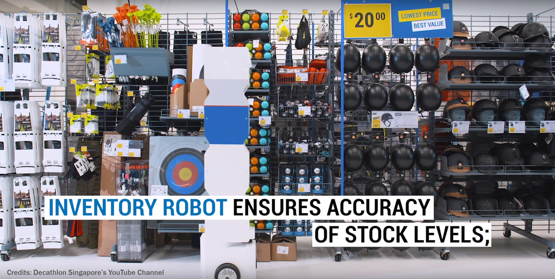 StockBot, the inventory robot at Decathlon Singapore!